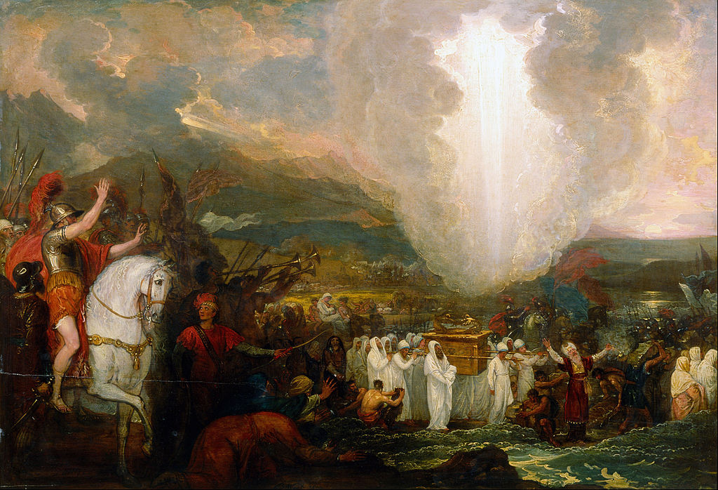 Benjamin_West_-_Joshua_passing_the_River_Jordan_with_the_Ark_of_the_Covenant_-_Google_Art_Project