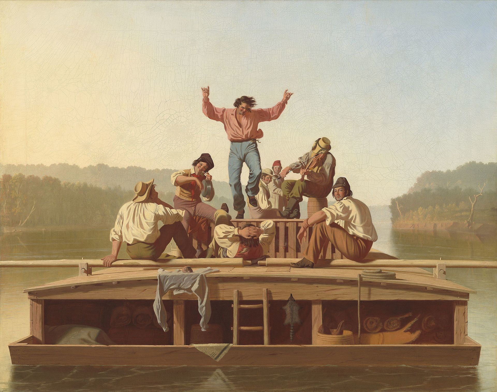 George_Caleb_Bingham-__The_Jolly_Flatboatmen_
